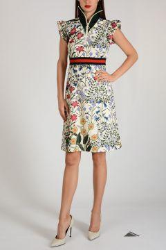 Flared Flowered Dress