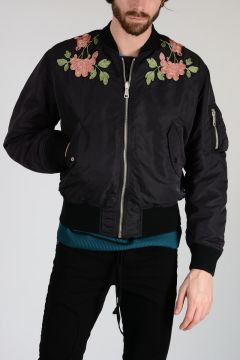Embroidery Reversible Bomber Jacket