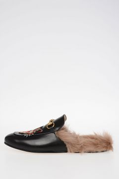 Leather Slipper with Fur Lining