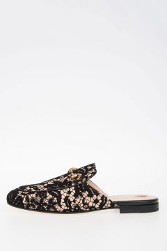 Slippers in Pelle e Pizzo