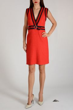 Cotton and Nylon Dress with Bow