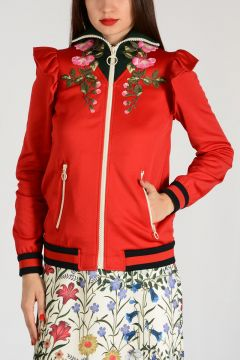 Flowers Embroidered Jacket