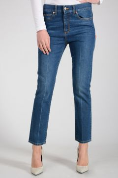 Jeans in Denim di Cotone 16.5 cm