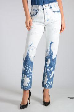 Jeans In Denim Sbiancato 15cm