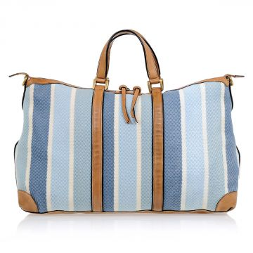 Fabric & Leather Duffle Bag