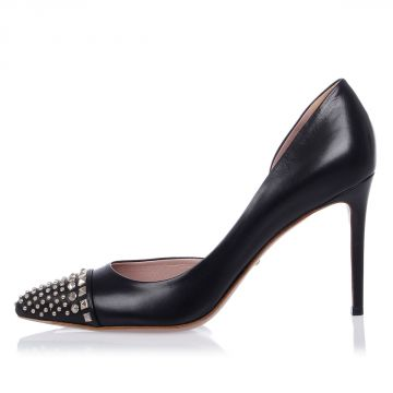 Leather Studded MALAGA Pumps 10 cm