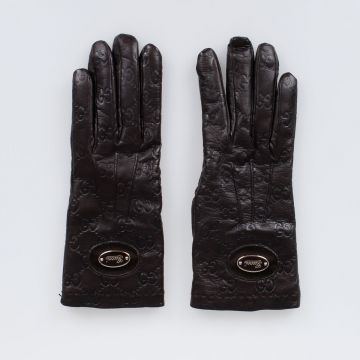 Logo Printed Nappa Leather Gloves
