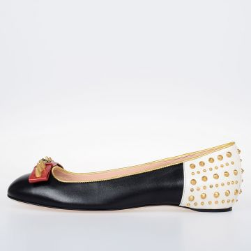 Leather MALAGA Studded Ballet Flat