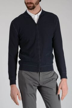 Cotton Cardigan with Zip
