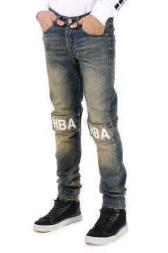 Jeans PATCH VINTAGE con Applicazione 17 cm