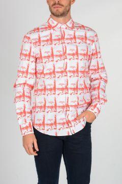 Camicia in Popeline di cotone a Fantasia