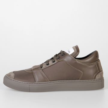 Leather & Fabric Low Top Sneakers
