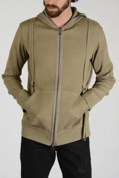 Full Zipped Cotton Stretch Sweatshirt