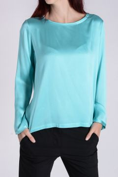 Silk Blend Long Sleeves ALBA top