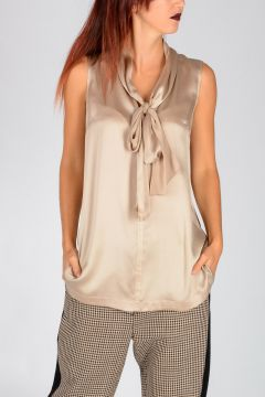 VELIVOLO Silk Blend Blouse