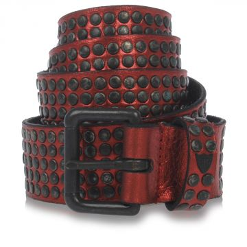 Cintura con borchie in Pelle