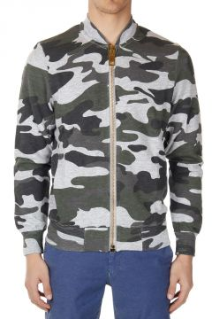 Felpa FULLZIP in Stampa Camouflage