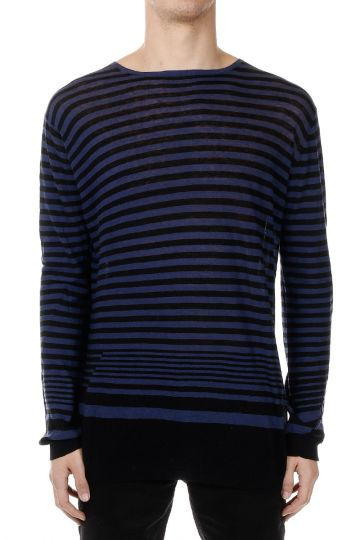 Striped Cotton and Cashmere Sweater
