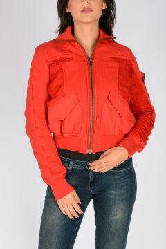 BOMBER PERTH BLOOD Cropped Jacket