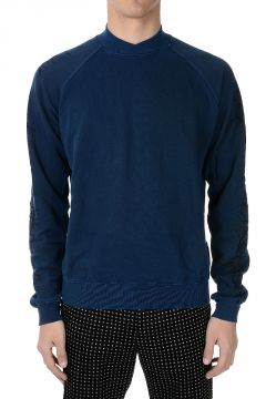 PERTH INDIGO Cotton Stretch Sweater