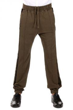 Pantaloni in cotone con Dettagli in Velluto