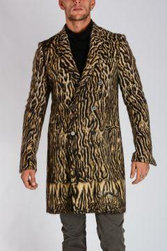 Wool Blend BEASTIE LEOPARD Coat