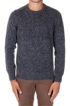 Virgin Wool Blend Round Neck Sweater