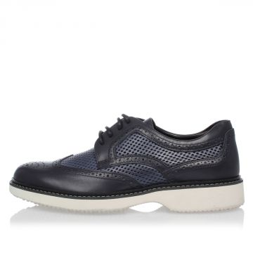 Scarpe ROUTE DERBY in Pelle Brogue Perforata