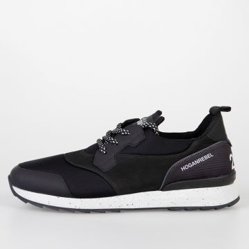 HOGAN REBEL Leather & Technical Fabric R261 Sneakers