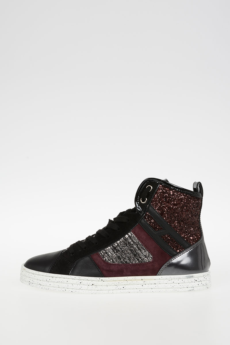 07aa00e8fb Hogan Women HOGAN REBEL Glittered high Sneakers - Glamood Outlet
