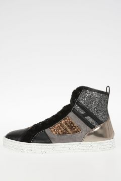 HOGAN REBEL Glittered high Sneakers