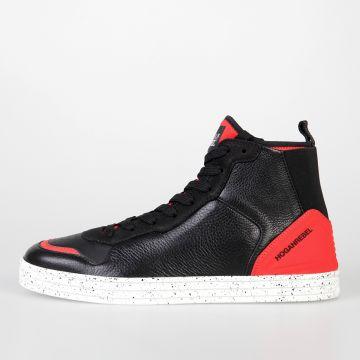 HOGAN REBEL Sneakers BASKET in Pelle e Tessuto Tecnico