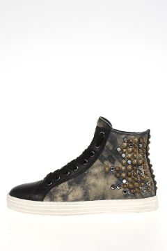 HOGAN REBEL Studded High Sneakers