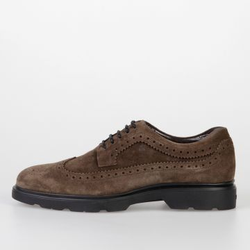 Suede NEW ROUTE Brogue Lace-Up Shoes