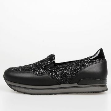 Sneakers Slip On in Pelle e Glitter