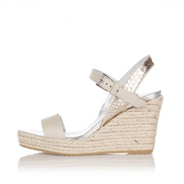 9 cm Leather Sandals with Wedge