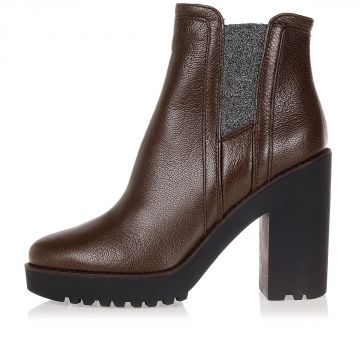 Goat Leather ROUTE ankle Boots 10 cm