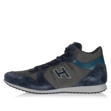 Sneakers in Camoscio e Tessuto