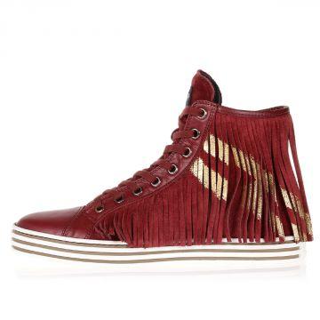 REBEL Sneakers Alte in Pelle scamosciata con Frange