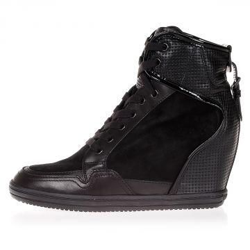 REBEL Sneakers Alte in Pelle con Zeppa