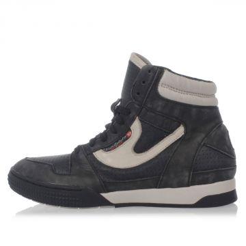 Sneakers S-BOXELLEN W in Pelle e Tessuto