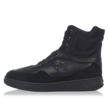 Sneakers alte in Pelle con Paillettes