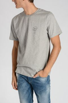 T-shirt TROPICAL GREY in Jersey di Cotone