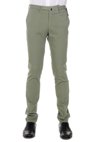 Pantaloni Skin Fit in Cotone Stretch