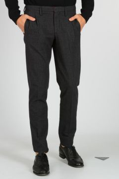 Pantaloni in Cotone Principe di Galles