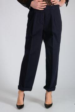 Pantaloni in Cotone e Lino