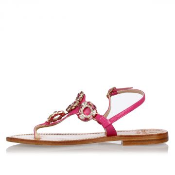 Leather Jewel thongs Sandals