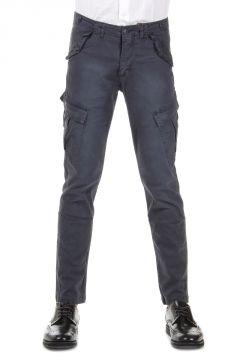 Pantalone in Cotone Stretch Multitasca