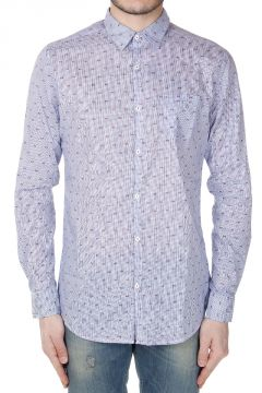 Camicia in Cotone a Righe con Motivo