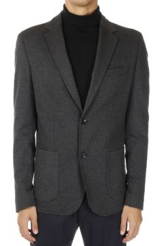Stretch Fabric Single Breasted Blazer